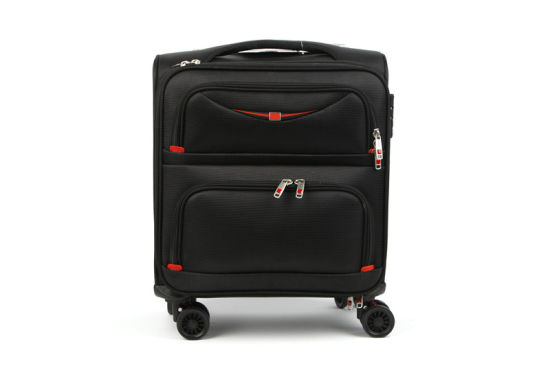 High Quality Polyester Large Capcaity Travel Trolley Case Set pictures & photos