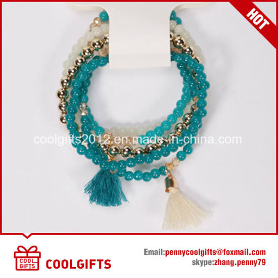 New Design Ladies Colorful Alloy Glass Tassels Bracelet pictures & photos
