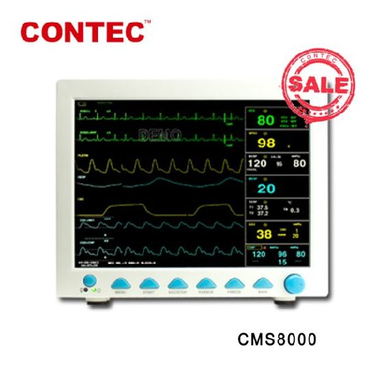 Contec Medcial Emergency Cms8000 Cheap Multi-Parameter Beside Portable Patient Monitor