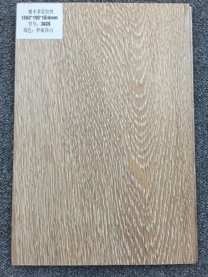 Oak Wood Drawbench Surface Interior Lamina Flooring Tile pictures & photos
