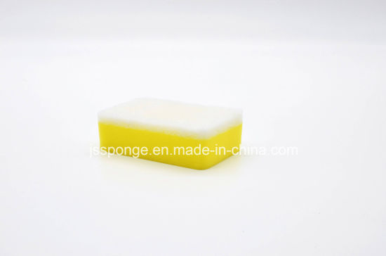 Yellow Sponge and White Scouring Pad pictures & photos
