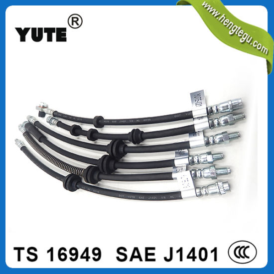 Yute SAE J1401 Flexible EPDM Rubber Brake Hose Assembly pictures & photos
