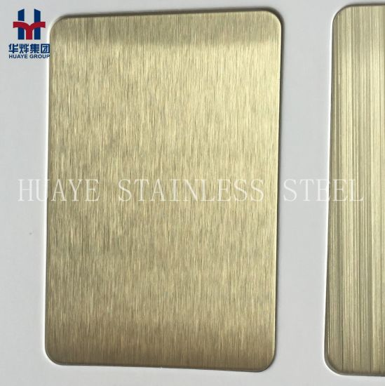 Titanium Coated PVD Stainless Steel Colored Decorative Sheet and Plate pictures & photos