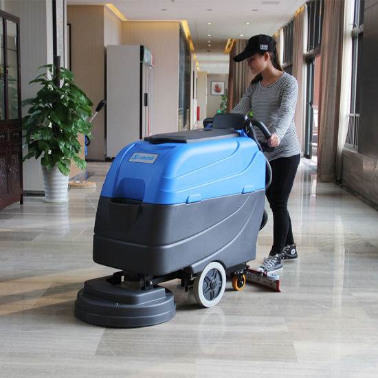 High Quality 3 Years Warranty Wash Suction Motor Rotary Hand Push Floor Scrubber