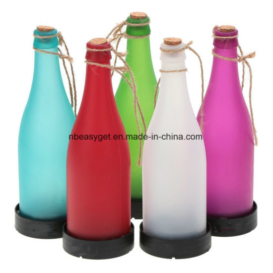 Plastic LED Solar Bottle Lights Wine Bottle Light Garden Hanging Lamp for Party Outdoor Garden Courtyard Patio Esg10130 pictures & photos