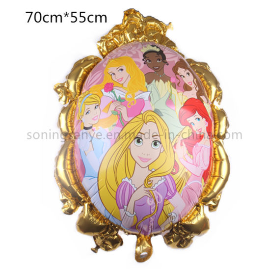 Dto0271 Party Decoration Princess Inflatable Foil Balloons