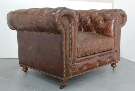 Chesterfield Leather Sofa, Antique Leather Sofa, Italian Leather Sofa Td-01 pictures & photos