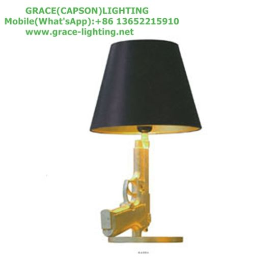 Decorative Modern Pistol Table Lamp Bed-Room Lights (GT-7048-1) pictures & photos