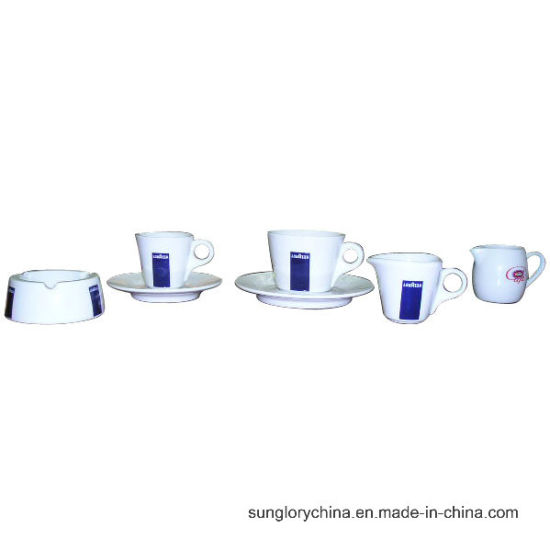 Lavazza Strengthen Porcelain Ashtray and Ceramic Tea Cups Coffee Mug