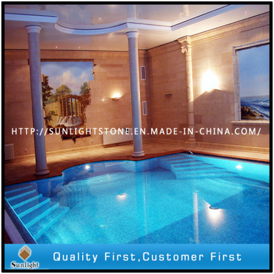 crystal glass mosaic swimming pool tile for hotel decoration project