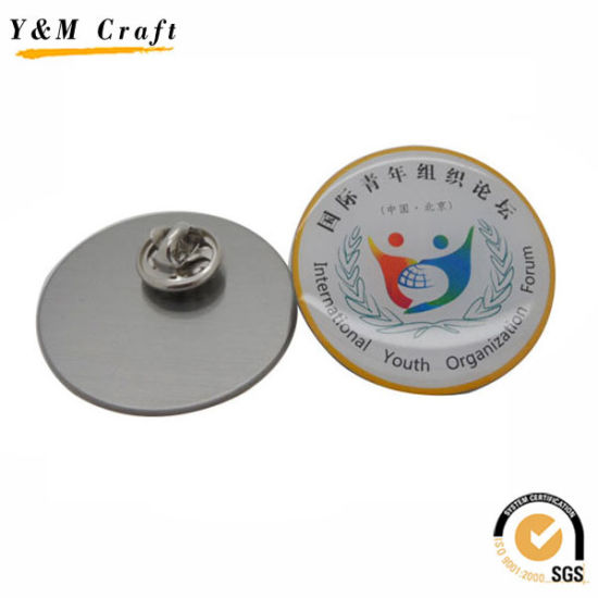 Metal Cmyk Print Logo with Epoxy Badge Ym1102 pictures & photos