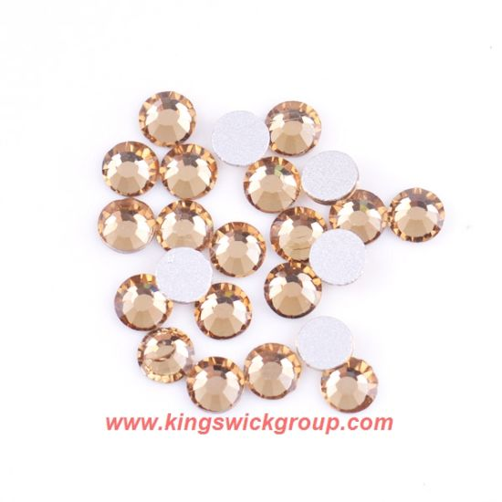 917e20bc26 Wholesale Crystal Glass Flatback Loose Round 14 Facet Cuts Non Hotfix Stone  Strass pictures & photos
