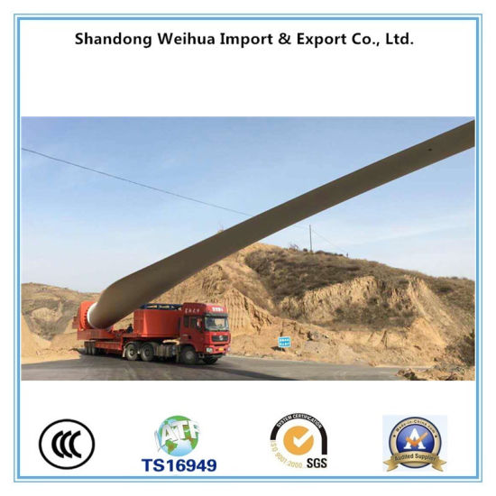 China Wind Blade Trailer Extendable Low Bed Semi Trailer pictures & photos