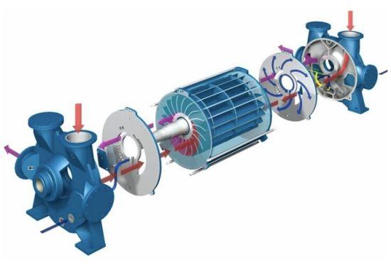 2be1 Series Water Ring Vacuum Pump 22500 M3/H