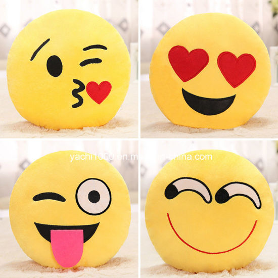 Wholesale 2017 Hot Style Plush Toy Embroidry Emoji Pillow