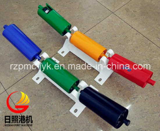 SPD Conveyor Carrier Trough Return Steel Impact Rubber Disc Flat Rubber Heavy Duty Roller Roll Idler pictures & photos