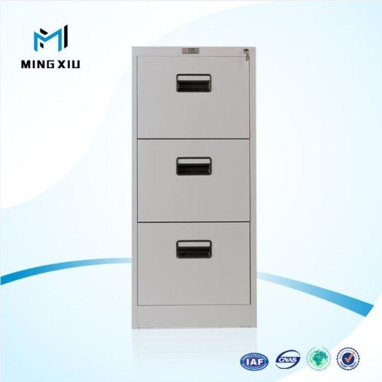 Mingxiu Low Price 3 Drawer Metal File Cabinet / Drawer Filing Cabinet