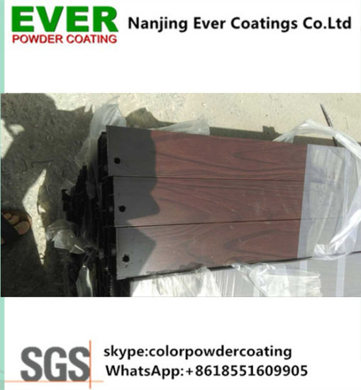 Heat Transfer Wooden Effect Powder Coating pictures & photos