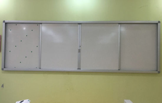 School Chalkboard Cabinet, Pull and Push Blackboard pictures & photos