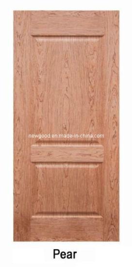 (pear) Veneered HDF Molded Door Leaf, Composite HDF Doors