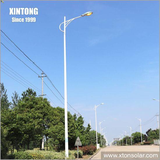 Octagonal Outdoor Solar LED Street Light Pole