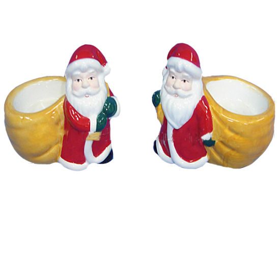 Ceramic Christmas Santa Claus with Bag Candle Holder Decor pictures & photos