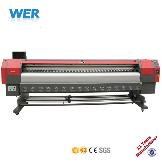 Wer Ce ISO Approved High Quality 3.2m Flex Banner Printer with 1440dpi for Canvas Photo Prints