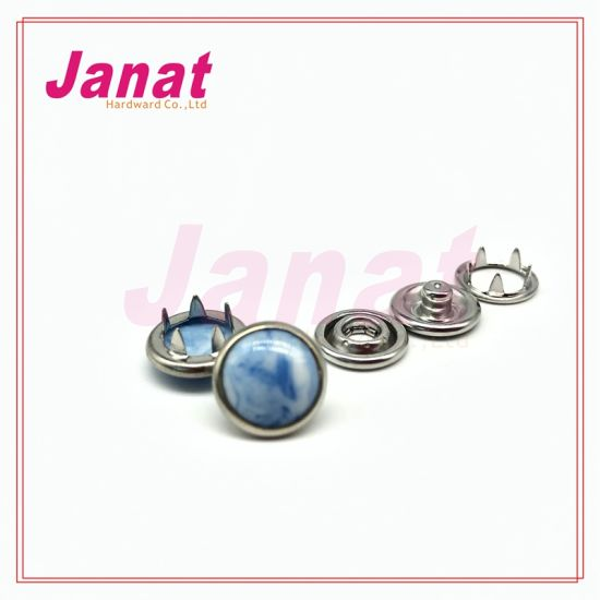 Mix Wood Pearl Prong Snap Buttn Custom Logo Metal Button for Clothings