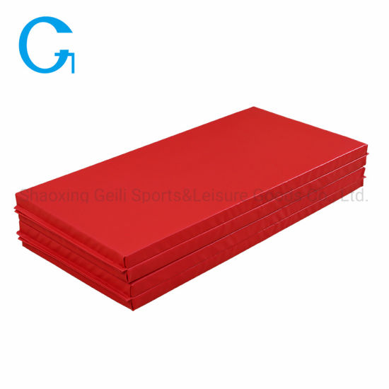 Wholesale Soft Foam Folding Gymnastics Red Gym Washable Exercise Foam Mat