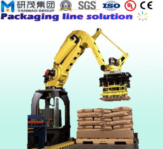 Automatic Robot Palletizing Palletizer Machine with Manipulator Arm for Carton Case Packaging Packing Line