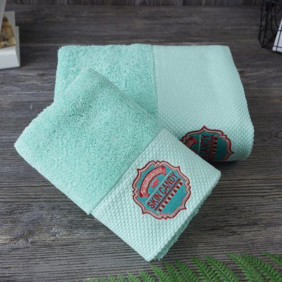 Wholesale 100% Cotton Towel Suit Custom Logo for Gift Towel