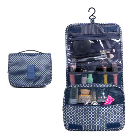 New Style Travel Wash Gargle Bag Cosmetic Bag with Plastic Hook