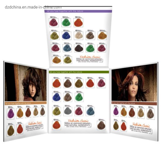 Customized Permanent Hair Dye Cream Color Chart/ Hair Color Dye Catalogu pictures & photos