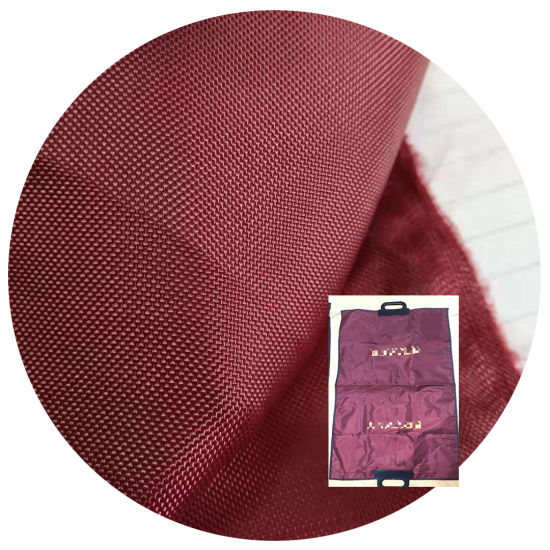 China Factory Wholesale Polyester Woven 210d 420d PU Coating Waterproof Dustproof Oxford Fabric Suit Cover Bag Materials Textile