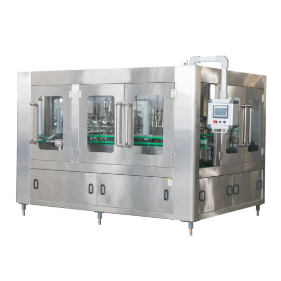 Automatic 3 in 1 Glass Bottle Soft Drinking Energy Drink Liquid Craft Beer Washing Filling Crown Capping Labeling Packing Machine