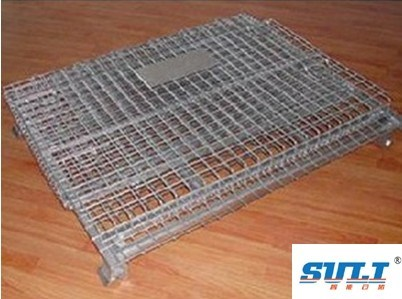 Storage Mesh Folding Cage with Garage Logistics Rolling Tools