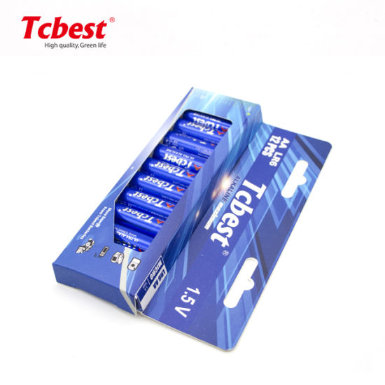 New Paper Package 12PCS No Plastic AA Lr6 1.5V Super Alkaline Battery