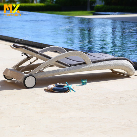 Well Made Comfortable Lounger with High Quality Rattan Weave
