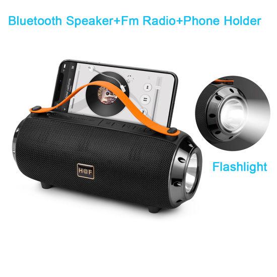 Powered Wireless Bluetooth Sound Speaker Box LED Flashlight Speaker Sub-Woofer Portable Amplifier Audio DJ Plastic Professional Loud Mini Active Speakers
