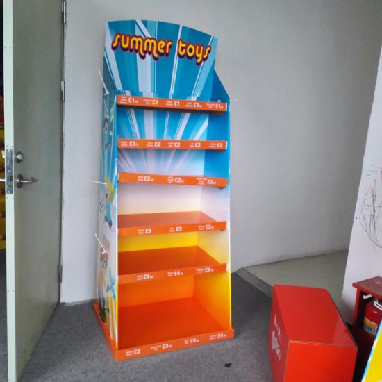 Point-of-Sale Display for Retail, Paper Display Stand, Pop Cardboard Display, Floor Standing Display Unit, Dumpbin Display pictures & photos