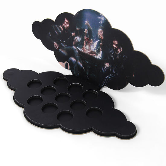 Firstsail Fashion Design Cloud Shape Custom 11 Colors Empty Magnetic Makeup Eyeshadow Palette