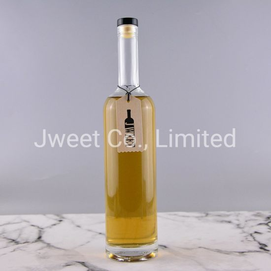 Factory Wholesale Tube Shape Clear Liquor and Wine Glass Bottle