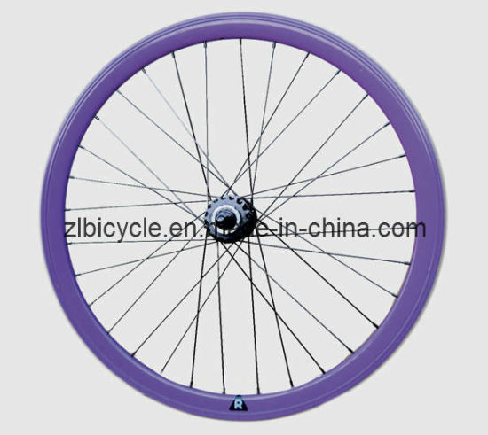 700c Fix Gear Bike Purple Color Wheel Set