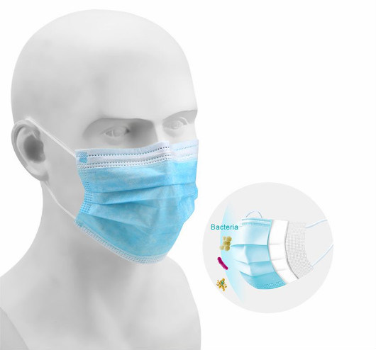 3ply Facial Mask Disposable Non Sterile Type I Medical Mask with Earloops 17.5*9.5cm En 14683: 2019 pictures & photos