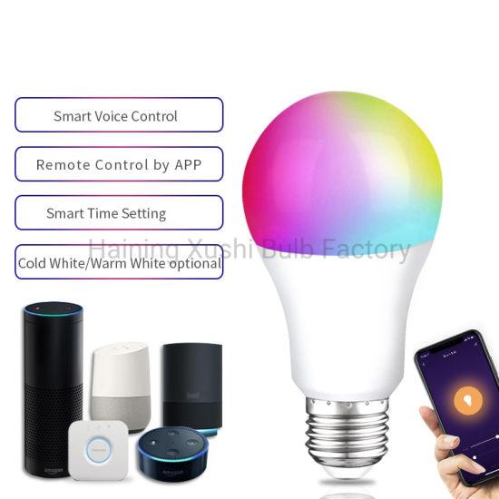 WiFi Smart LED Bulb 7W 9W 680lm E27 E26 Smart Bulbs with Alexa and Google Home