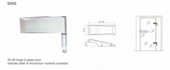 Gh02 Stainless Steel Glass Hinge pictures & photos
