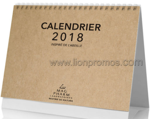 2019 Yearly Eco Friendly Recycled Kraft Paper 13 Sheets Calendar