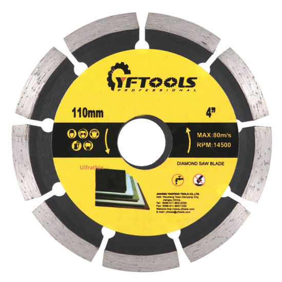 Segmented Circular Diamond Saw Blade for Cutting Marble, Stone, Concrete, Granite Material