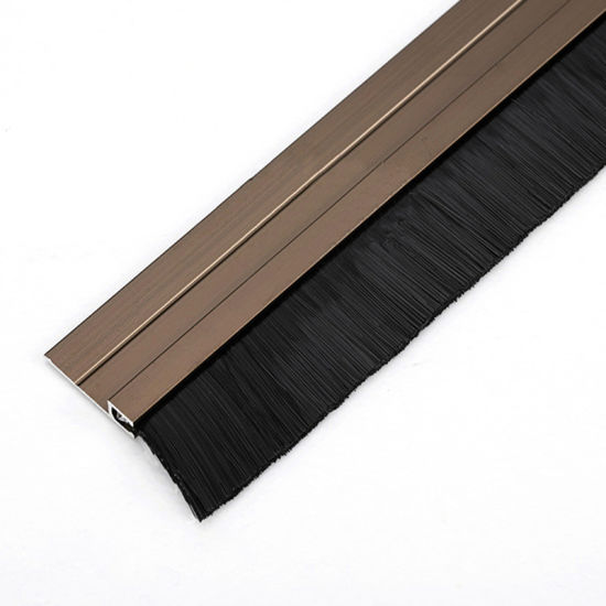 Under Door Sweep Weather Strip Seal Brush With PVC And Aluminum