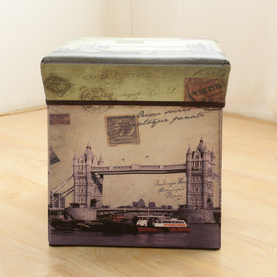 Multifunctional Non-Woven Storage Box Creative Storage Box Folding Stool pictures & photos